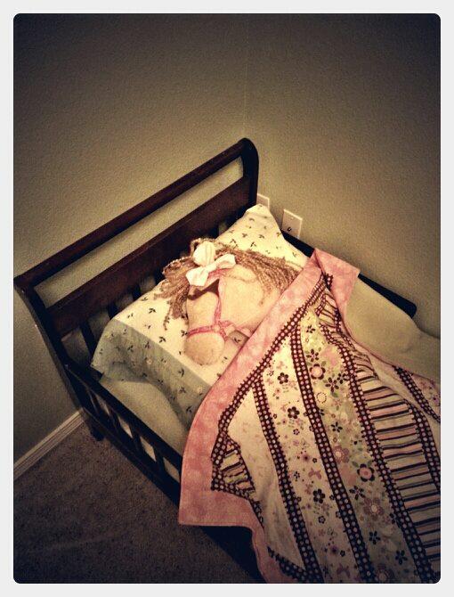 Horse Head in Kids Bed